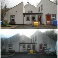 Image of render & roof cleaning in Wigan Lancashire.