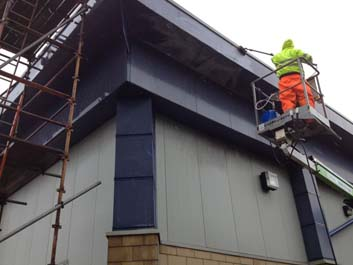 image of cladding cleaning company manchester
