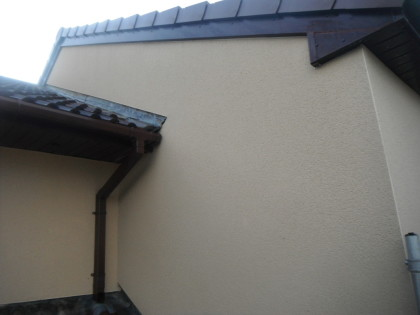blacks streaks and algae cleaned from k-rend render wall in liverpool merseyside, render cleaning image