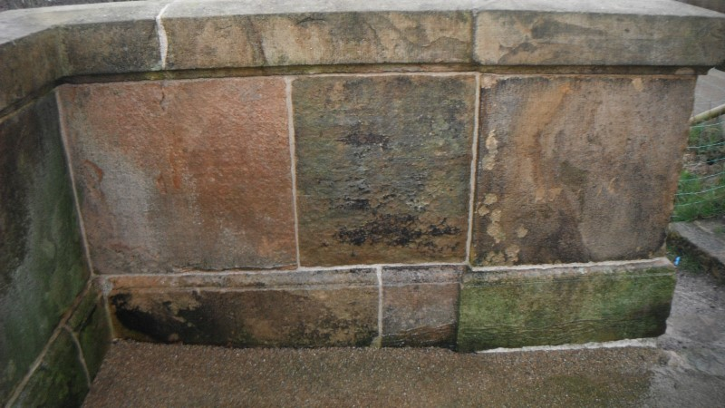 graffiti after removal in liverpool merseyside