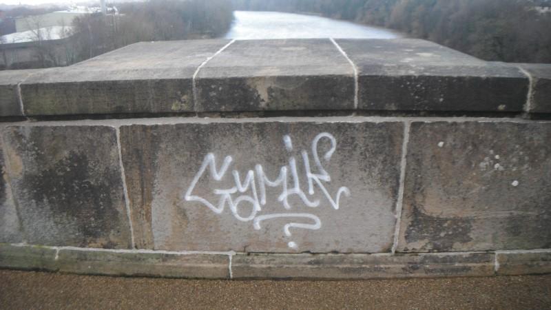 before graffiti removal in lancashire