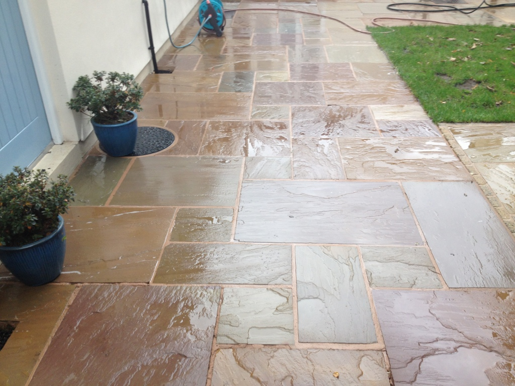 image of indian sandstone after cleaning in preston lancashire