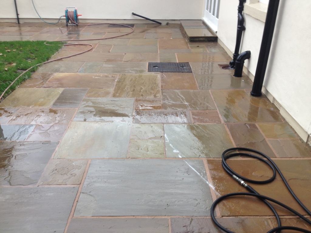 black spots on indian sandstone in ormskirk lancashire