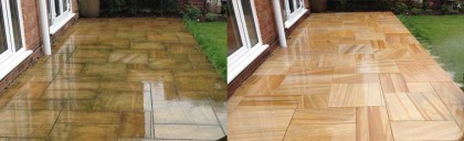 Image of driveway and patio cleaning Skelmersdale Lancashire