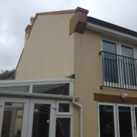 image of after K rend render cleaning Manchester Cheshire www.cleaning-service.uk.com