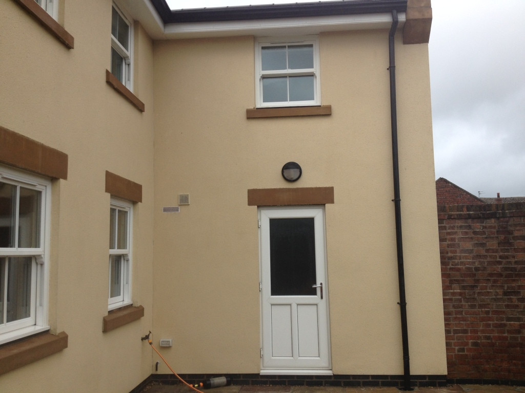 image of k rend render house after cleaning by soft wash ,image was taken in preston lancashir