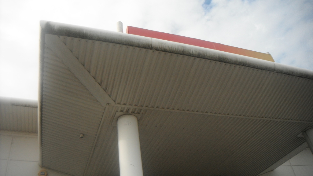 image of cladded building before cleaning in preston lancashire