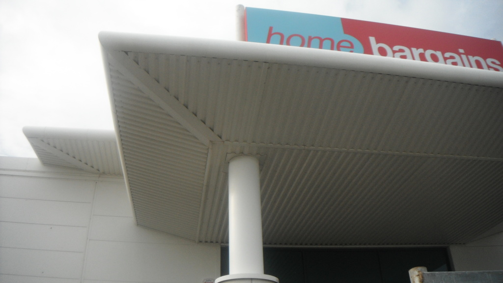 image of cladding after cleaning in preston lancashire