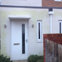 image of render cleaning wigan lancashire before cleaning