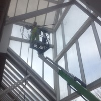 cleaning exterior building with cherry picker liverpool merseyside