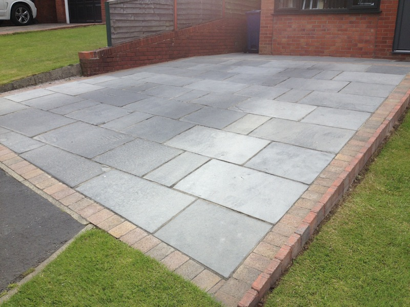 Indian sandstone , Black limestone before cleaning and seling in liverpool merseyside