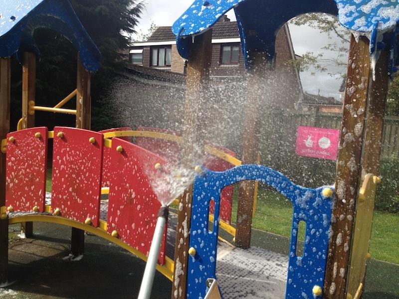 soft washing a childs playground preston lancashire