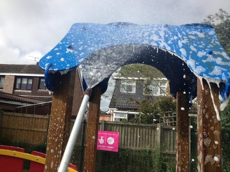 soft washing of wet pour childs playground in preston lancashire