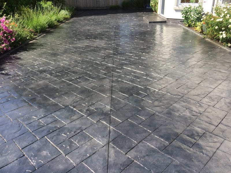 image of Imprinted concrete cleaning Liverpool www.cleaning-service.uk.com