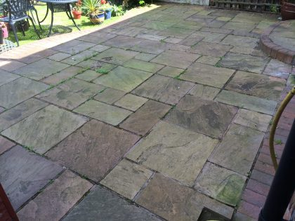 image of Indian sandstone cleaning & sealing company Chester Cheshire www.cleaning-service.uk.com