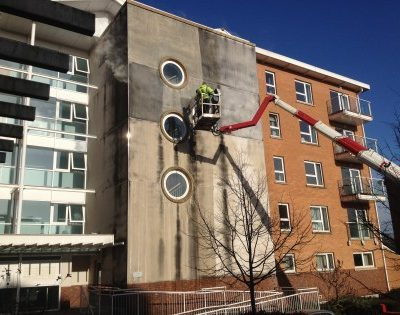 Render cleaning Edinburgh Scotland