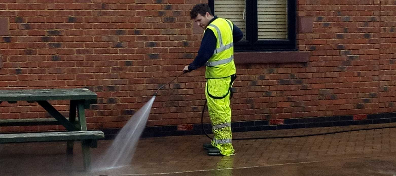 Industrial pressure washing in Cheshire