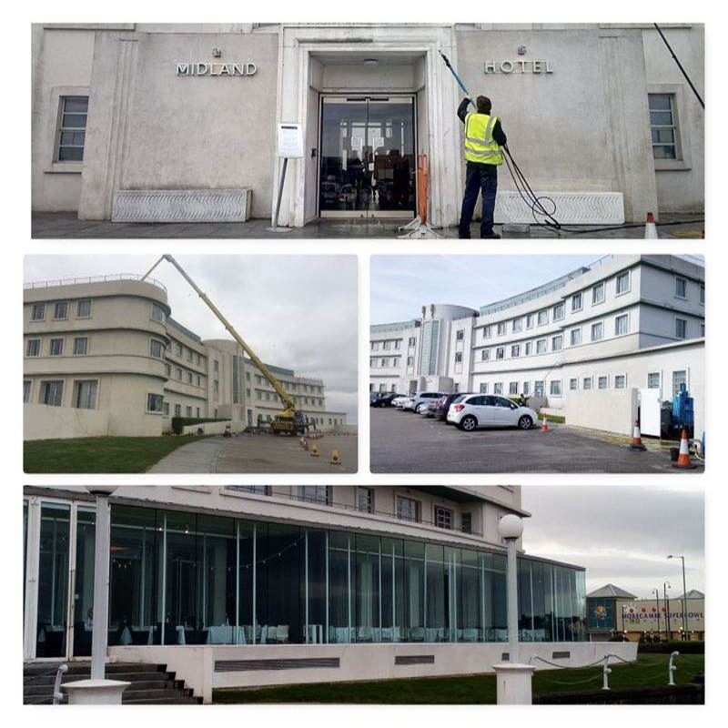 Images of the Midland Hotel Morecambe listed building cleaning www.cleaning-service.uk.com