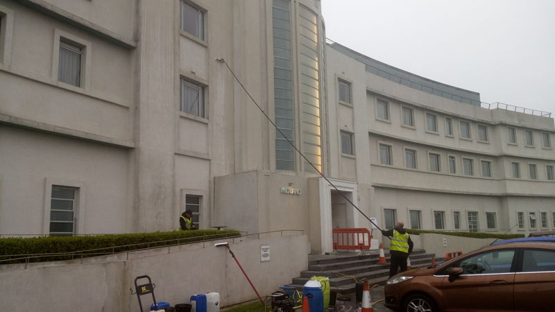 Render cleaning Glasgow Scotland