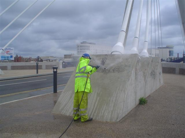 image of Pressure washing company in Lytham st Annes www.cleaning-service.uk.com